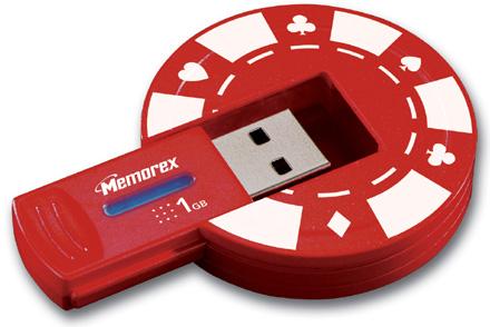 Memorex представила 1 Гб USB накопитель для любителей покера