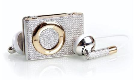 Яркий iPod с золотом и алмазами