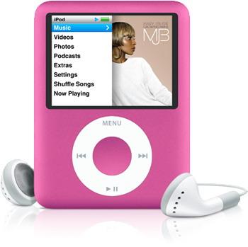 В продаже розовый iPod nano