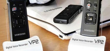 Тонкий диктофон Samsung YP-VP2