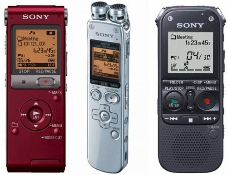 Sony выпустила новые диктофоны