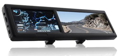 Зеркало заднего вида с поддержкой Bluetooth и GPS