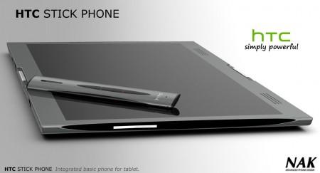 Концепт HTC Stick Phone предназначен для использования вместе с планшетом Tube Tablet