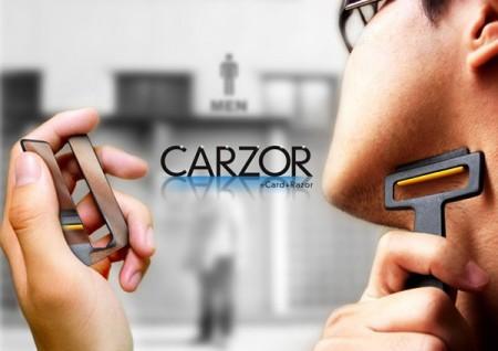 Дорожная бритва Carzor размером с кредитную карту