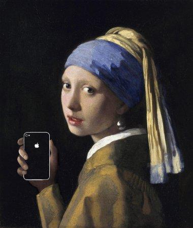 Гаджетизация в искусстве классических художников. Современная серия картин 'art x smart'
