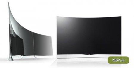 LG предложила потребителю телевизоры с изогнутым дисплеем