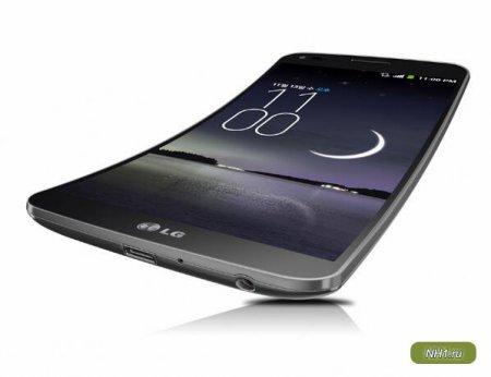 LG представила смартфон с изогнутым дисплеем